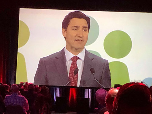601b705aed50 First up was the sitting Prime Minister JUSTIN TRUDEAU. Smooth as glass. It  is very easy to see TRUDEAU grew up in this world. He is an excellent  public ...