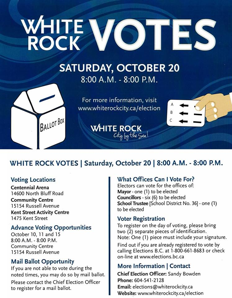 Between now and Friday October 19, 2018 we will shine the spotlight on the  independent candidates that will be seeking your support for a seat on  White Rock ... 028a19be8d